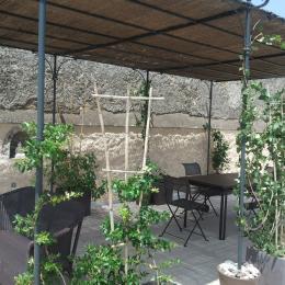 les hôtes ont accès à la terrasse - Location de vacances - Neffiès