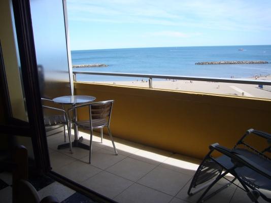 Balcon offrant une vue mer - Location de vacances - VALRAS-PLAGE