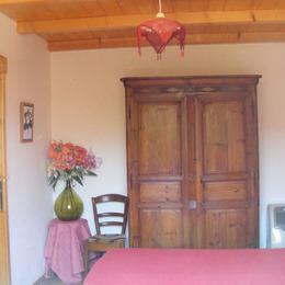 Chambre avec deux lits en 90 cm - Location de vacances - Le Pradal