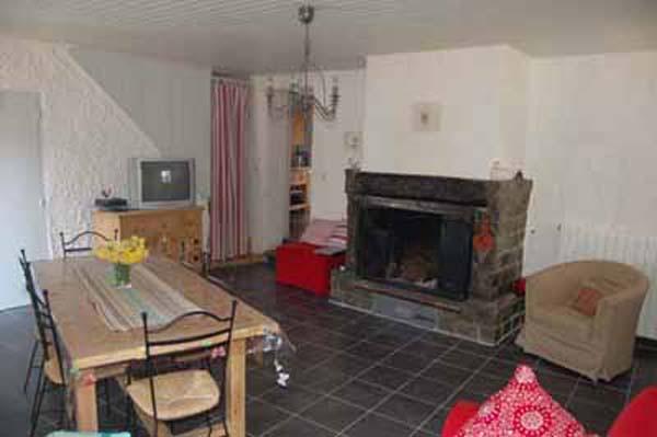 Salon TV séjour cheminée - Location de vacances - Avène