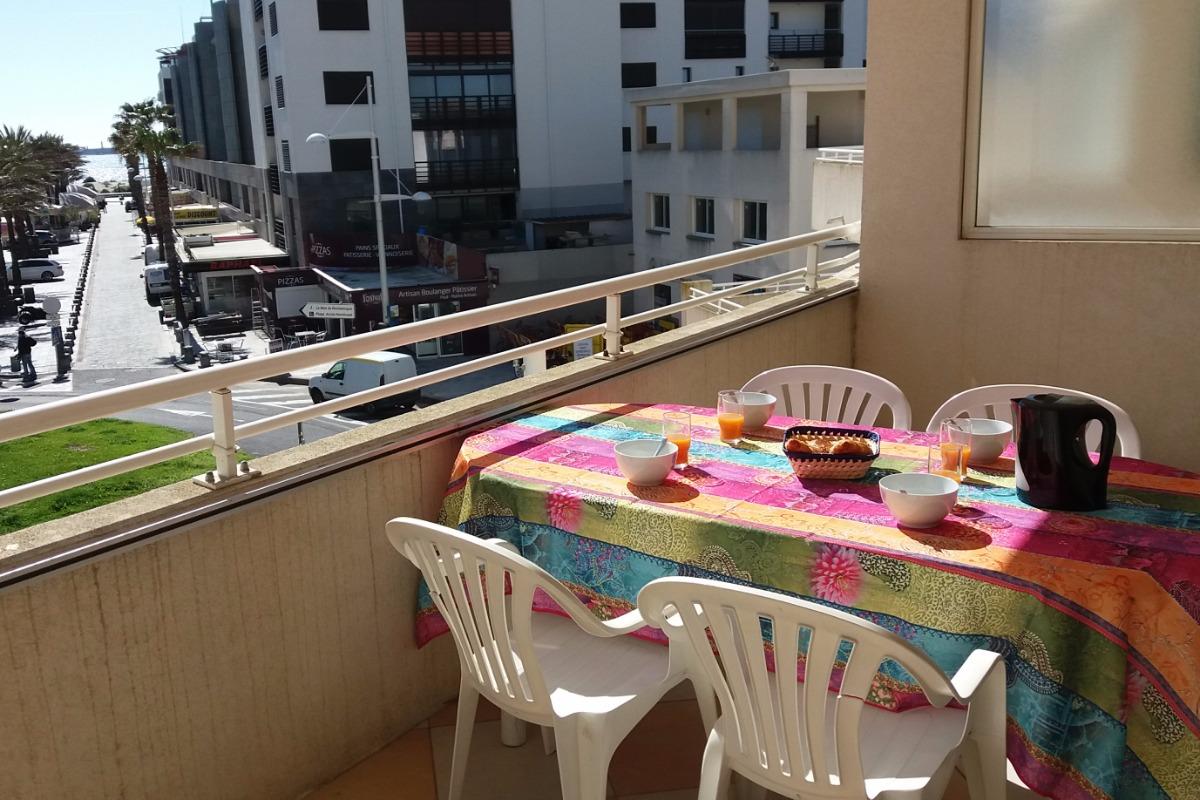 terrasse exposée Sud - Location de vacances - Cap D'agde