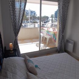 vue de la chambre: mer - Location de vacances - Cap D'agde