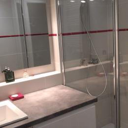 salle de bain douche - Location de vacances - La Grande-Motte