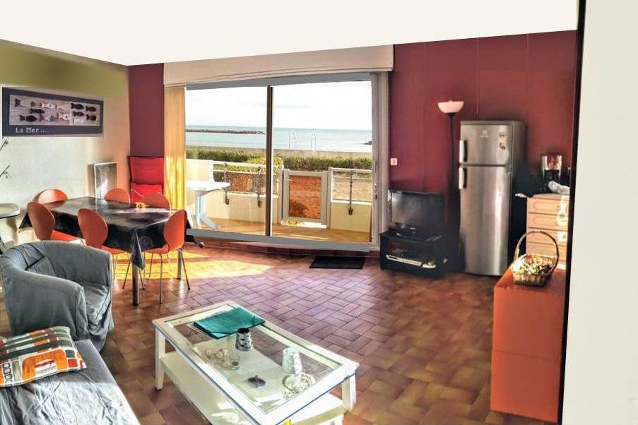 Vue et accès Mer depuis le salon. - Location de vacances - PALAVAS-LES-FLOTS