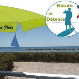 Terrasse.avec vue sur la grande plage de sable fin. Randonnées super nature à proximité des étangs et activités plage toute l'année ! - Location de vacances - PALAVAS-LES-FLOTS