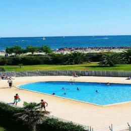 vue de l' appartement  piscine mer  - Location de vacances - CAP-D'AGDE