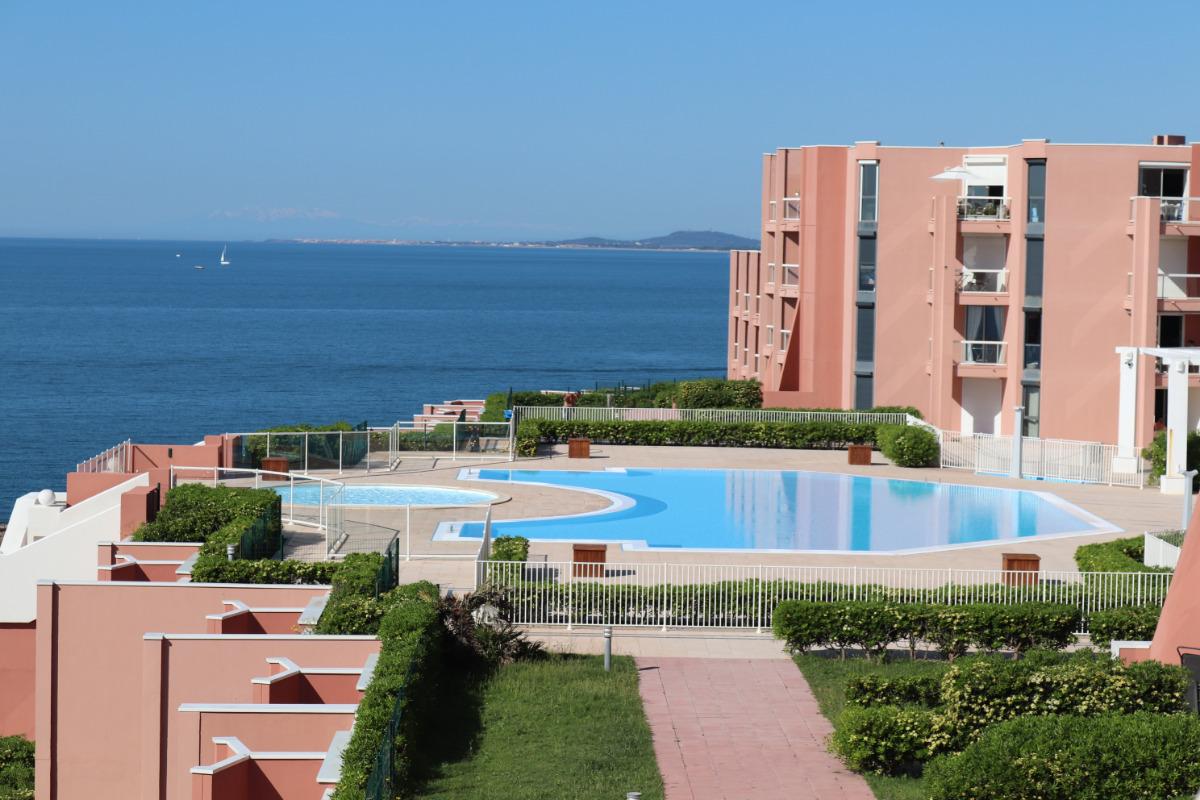 terrasse et jardinet vue sur la mer - Location de vacances - Sète