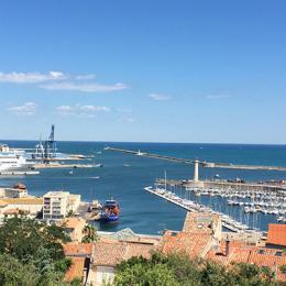 Vue du séjour - Location de vacances - Sète