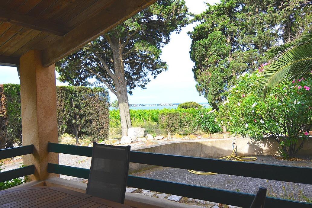 Vue de la terrasse sur l'étang de Thau - Location de vacances - FRONTIGNAN