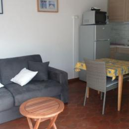 Salon / Coin cuisine - Location de vacances - Cap D'agde