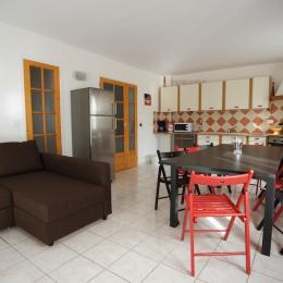 chambre 1 et lit de 140 - Location de vacances - Le Bosc