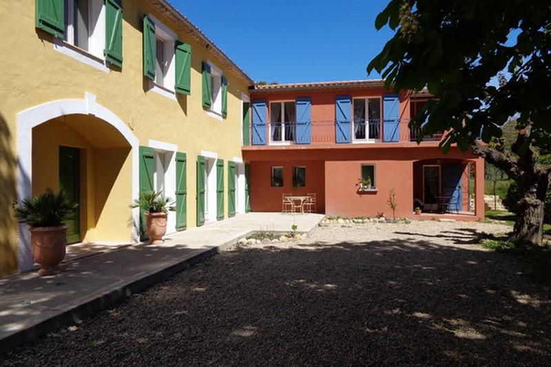 Vue du gîte et du mas que nous occupons - Location de vacances - Saint-Pons-de-Mauchiens