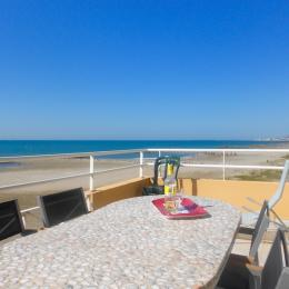 Vue sur la plage, la mer et le Mont St Clair - Location de vacances - Frontignan