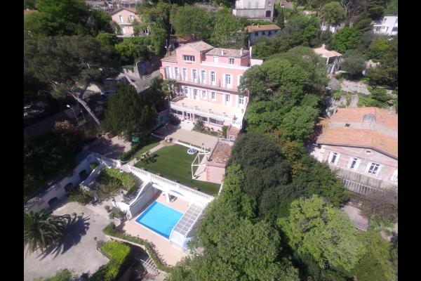 Vue aérienne de la maison. - Chambre d'hôtes - Sète