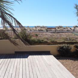 Accès à la plage à 10 mètres - Location de vacances - Marseillan Plage