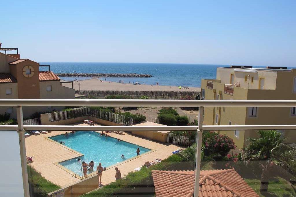 Terrasse vue mer - Location de vacances - VALRAS-PLAGE