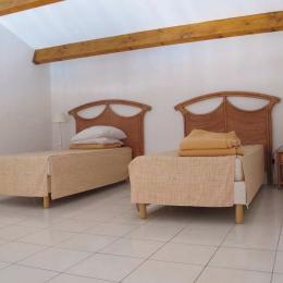 Lits simples sur la mezzanine - Location de vacances - VALRAS-PLAGE