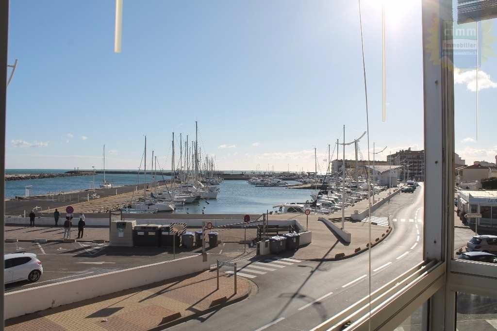 Loggia vue port et mer - Location de vacances - VALRAS-PLAGE