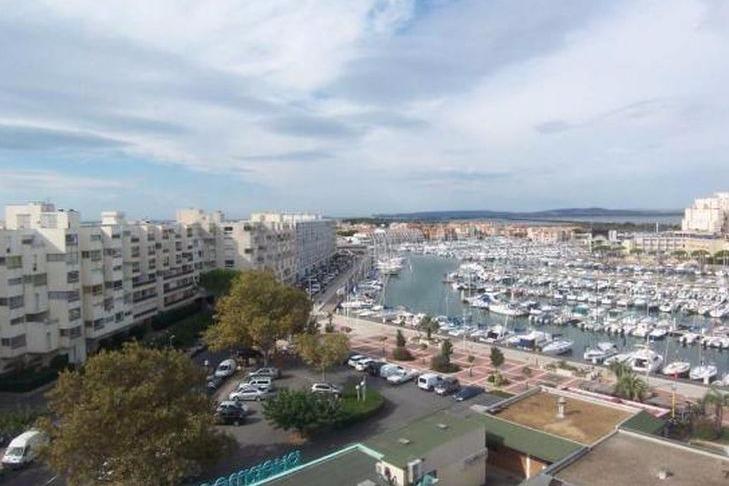 Terrasse vue Port - Location de vacances - CARNON PLAGE