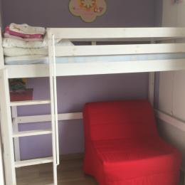 Chambre lit mezzanine 90 cm et BZ 90 cm - Location de vacances - Béziers