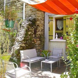 Jardins de Marlo - Terrasse - Location de vacances - Courniou