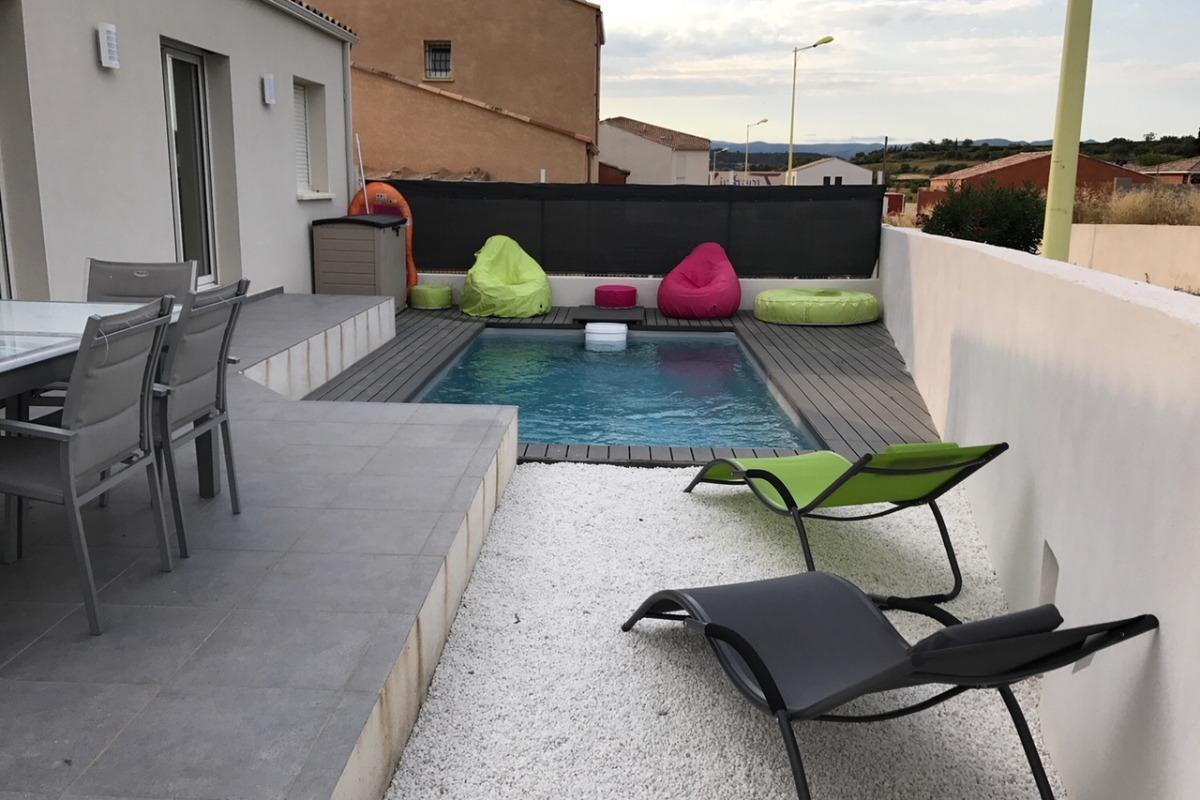 piscine avec régulation automatique chauffée - Location de vacances - Thézan-lès-Béziers