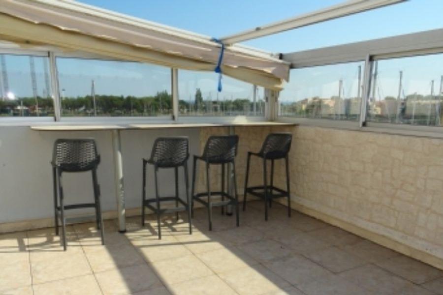 Grande terrasse couverte - Location de vacances - CAP-D'AGDE