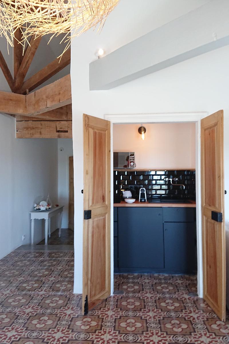 kitchenette de la suite - Chambre d'hôtes - PORTIRAGNES