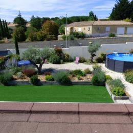 Vue du jardin depuis le toit - Location de vacances - Alignan-du-Vent