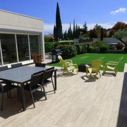 Terrasse de 90m2 - Location de vacances - Alignan-du-Vent