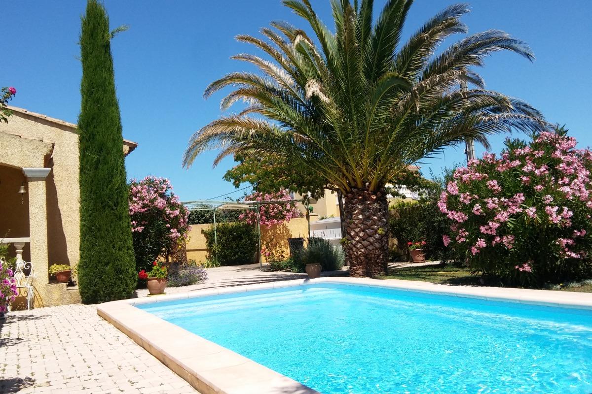 Piscine et jardin - Location de vacances - Canet
