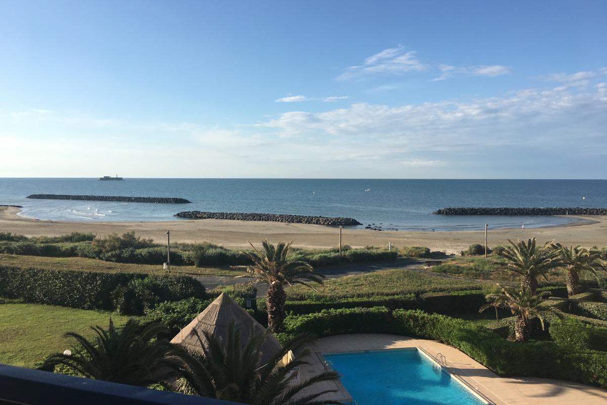 Vue du balcon - Location de vacances - Cap D'agde