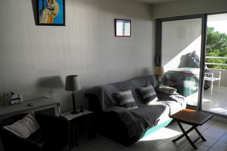 Salon accès terrasse - Location de vacances - Sète