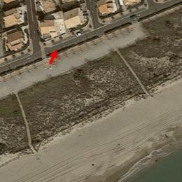 Localisation de la maison au 26 boulevard du front de mer - Location de vacances - Portiragnes-Plage