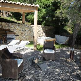 terrasse privée et barbecue - Location de vacances - Saint-Paul-et-Valmalle
