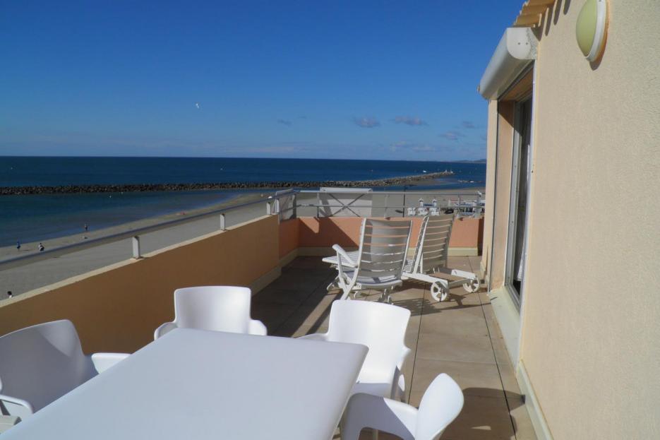 Magnifique terrasse vue mer - Location de vacances - Sète