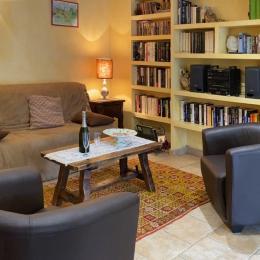 Le canapé devient un vrai lit, latex et lattes, 160x200 - Location de vacances - Prades-le-Lez