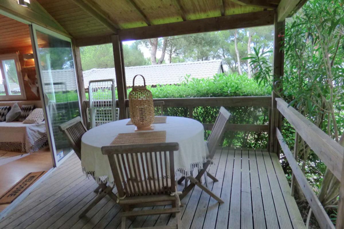 La terrasse extérieure - Location de vacances - AGDE