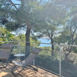 Terrasse ombragée avec vue mer - Location de vacances - Sète