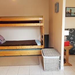 le coin couchage avec 2 lits superposés - Location de vacances - Saint-Malo