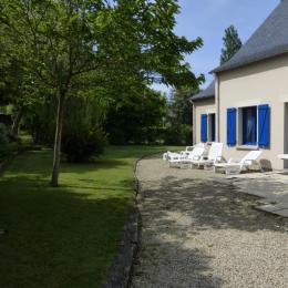 la terrasse et son jardin - Location de vacances - Cancale