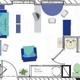 Plan du studio. - Location de vacances - Saint-Malo