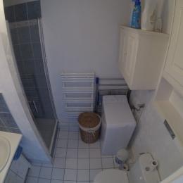 Salle d'eau avec douche et wc. - Location de vacances - Saint-Malo