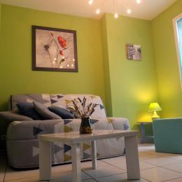 Le salon - lieu agréable de détente, lecture... - Location de vacances - Saint-Malo