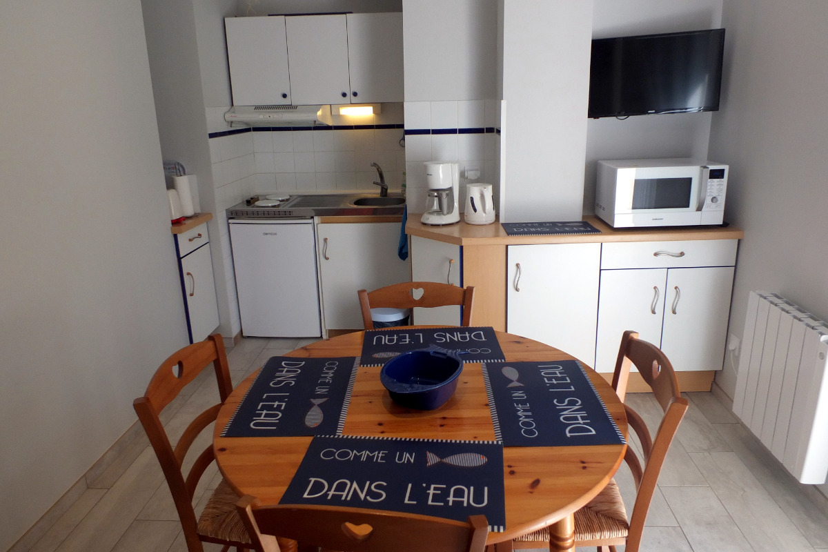 La cuisine équipée - Location de vacances - Saint-Malo