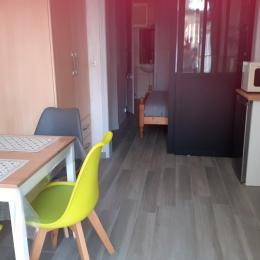 Séjour/cuisine / Chambre au fond et S d'eau - Location de vacances - Dinard