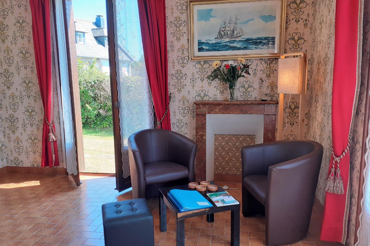Chambre 1 - lit 140cm - Location de vacances - Cancale