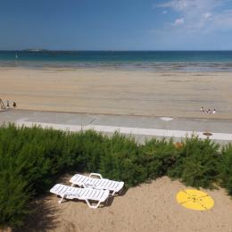 La vue vers le Sillon et l'Intra-Muros depuis une chambre - Location de vacances - Saint-Malo