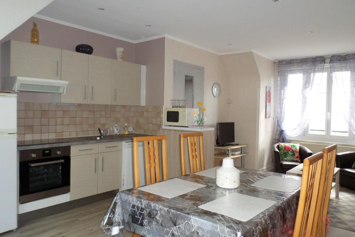 chambre lit 140 x 190 cm - Location de vacances - Dinard