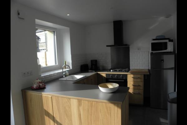La cuisine - Location de vacances - La Baussaine